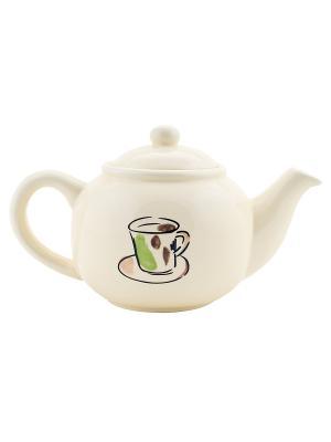 Чайник Elff Ceramics. Цвет: бежевый