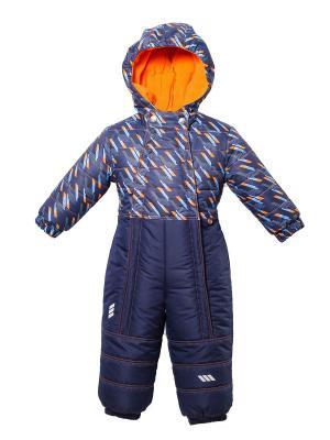 Комбинезон SAIMA. Цвет: синий, оранжевый