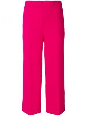 Укороченные расклешенные брюки P.A.R.O.S.H.. Цвет: розовый и фиолетовый