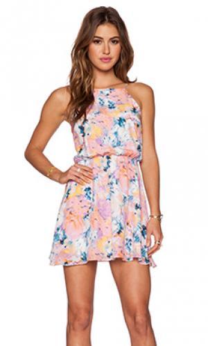 Платье ace Myne. Цвет: розовый