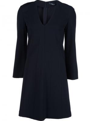 Платье с V-образным вырезом Derek Lam. Цвет: чёрный
