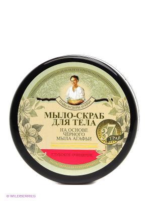 Мыло-скраб для тела глубокое очищение, 300 мл Рецепты бабушки Агафьи. Цвет: серый