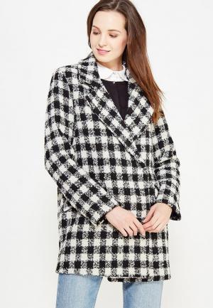 Пальто Silvian Heach. Цвет: черно-белый