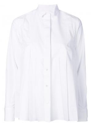 Плиссированная рубашка Sacai. Цвет: белый