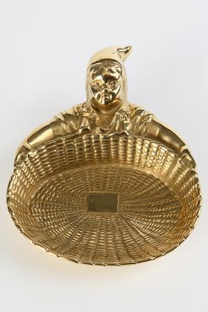 Тарелка для мелочей Stilars. Цвет: золотой