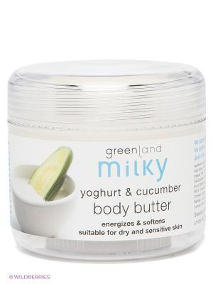 Крем для тела, йогурт-огурец, 150 мл. Greenland. Цвет: белый