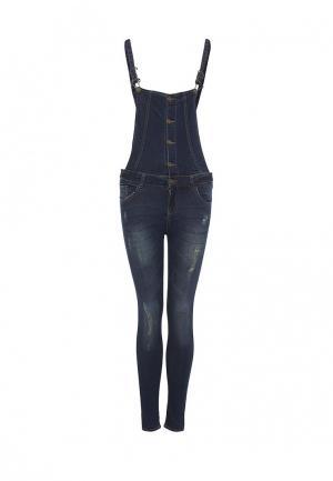 Комбинезон джинсовый Mim. Цвет: синий