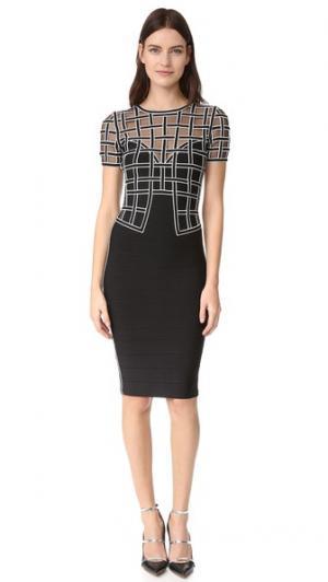 Платье Tiana Herve Leger. Цвет: черный комбинированный
