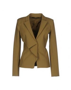 Пиджак ANNARITA N.. Цвет: зеленый-милитари