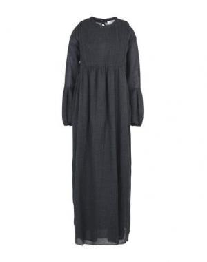 Длинное платье MANOSTORTI. Цвет: стальной серый