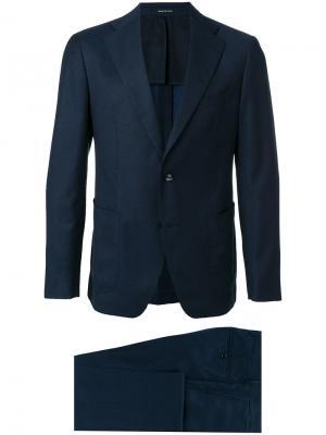 Классический строгий костюм Tagliatore. Цвет: синий