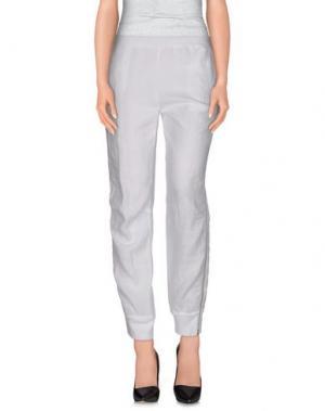 Повседневные брюки STEFANO MORTARI. Цвет: белый