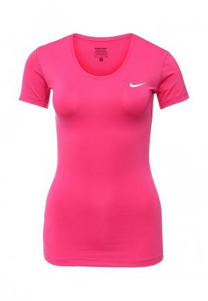 Футболка спортивная Nike. Цвет: фуксия