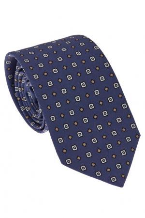 Синий галстук с наборным узором Gucci. Цвет: темно-синий