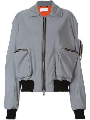 Куртка бомбер с карманами Wanda Nylon. Цвет: серый