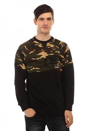 Толстовка свитшот  Crewneck Combo Camo Black/Camo Anteater. Цвет: черный,зеленый,коричневый