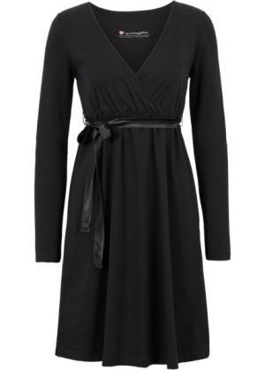 Мода для беременных: платье с функцией кормления (черный) bonprix. Цвет: черный