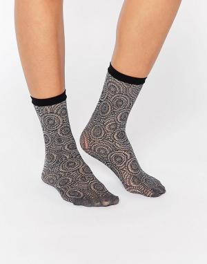 Jonathan Aston Сетчатые носки с узором. Цвет: серый