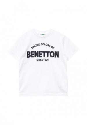 Футболка United Colors of Benetton. Цвет: белый