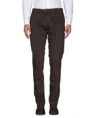 Повседневные брюки TAKESHY KUROSAWA. Цвет: темно-коричневый