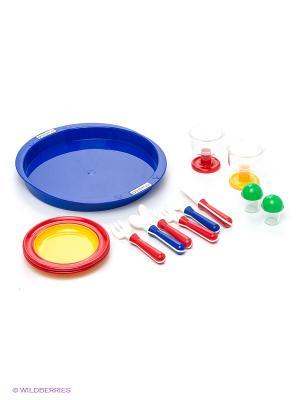 Набор посуды Время ланча SPIELSTABIL. Цвет: красный, желтый, зеленый, синий
