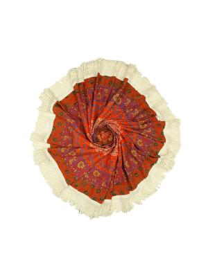 Покрывало круглое диаметр 150 см ETHNIC CHIC. Цвет: красный