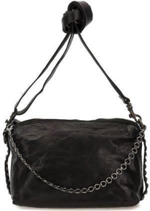 Маленькая кожаная сумка через плечо Campomaggi. Цвет: черный