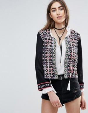Raga Куртка с отделкой Morocan Dreams. Цвет: черный