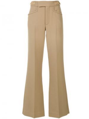 Расклешенные брюки со складками Marc Jacobs. Цвет: телесный