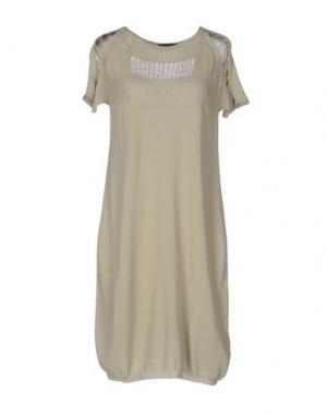 Короткое платье OBLIQUE CREATIONS. Цвет: зеленый-милитари