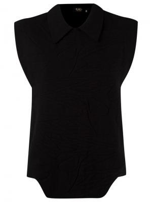 Texturized knit blouse Gig. Цвет: чёрный