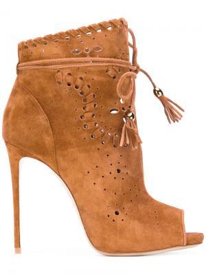 Ботинки с кисточками Le Silla. Цвет: коричневый
