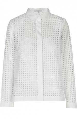 Перфорированная блуза прямого кроя Gerard Darel. Цвет: белый