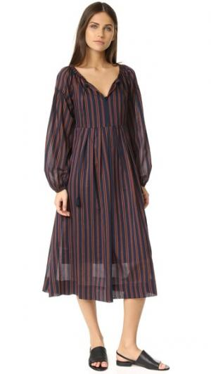 Платье Feywood Steven Alan. Цвет: кирпичный в полоску