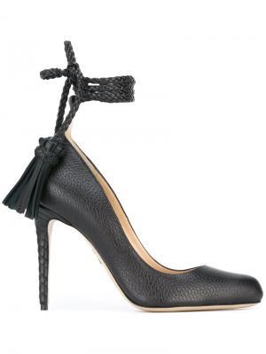 Туфли с кисточками Paul Andrew. Цвет: чёрный