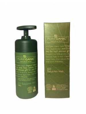 Чистая Органика Эко гель для мытья тела и волос c дозатором, 200 мл PUREGANIC NATURE & TRUST. Цвет: прозрачный