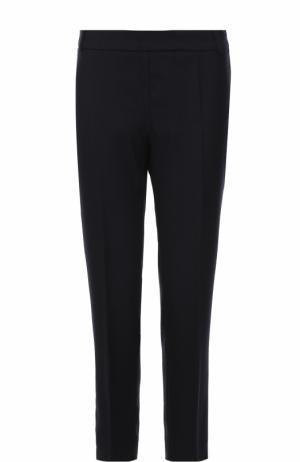 Шерстяные укороченные брюки со стрелками Weill. Цвет: темно-синий