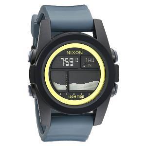 Часы  Unit Tide Black/Dark Gray/Chartreuse Nixon. Цвет: черный