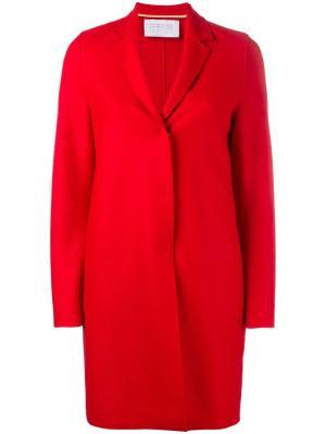 Классическое пальто-кокон Harris Wharf London. Цвет: красный