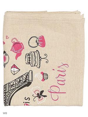 Полотенце льняное Париж GrandStyle. Цвет: розовый, серый