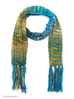 Шарф J Ploenes. Цвет: голубой, желтый, зеленый