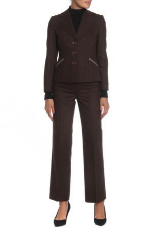 Костюм: пиджак, брюки MODART. Цвет: коричневый, оранжевый