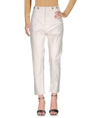 Повседневные брюки ERMANNO GALLAMINI. Цвет: белый