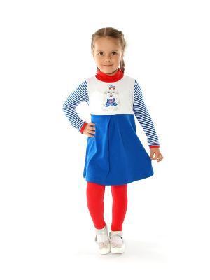 Комплект одежды Апрель. Цвет: синий, красный, белый