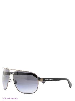 Очки солнцезащитные DOLCE & GABBANA. Цвет: темно-серый, синий