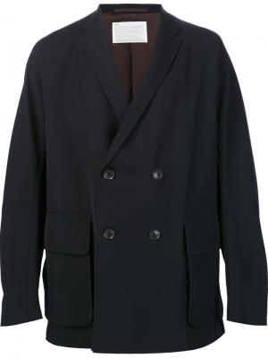 Двубортная куртка Kolor. Цвет: синий