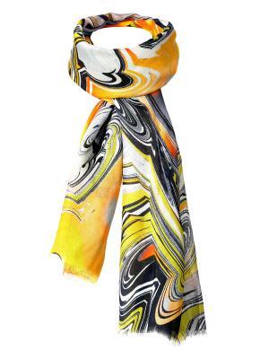 Палантин Rob-art by Katya Rozhdestvenskaya. Цвет: хаки, серый