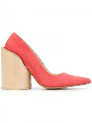 Туфли на массивном каблуке Jacquemus. Цвет: красный
