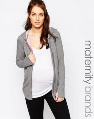 Mama.licious Домашнее худи для беременных Mamalicious. Цвет: серый