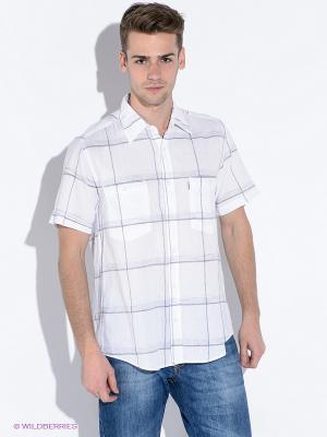 Рубашка Westrenger. Цвет: белый, серый